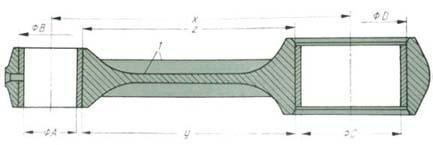 wymiary i powierzchnie klasyfikacyjne korbowodu