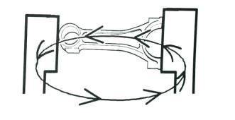 korbowód podczas magnesowania