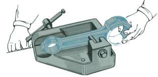Prasa mechaniczna do prostowania trzonu korbowodu